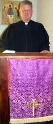 Prof. John T. Pless preaching at LTS during the Confessional Service