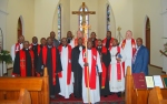 The officiants and ordinands after the service in Christ Church (Kirchdorf, KZN)