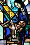 baptism stained windows
