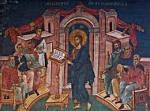 Jesus preaching in the synagoge