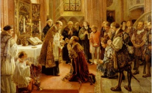 First Lutheran service in Brandenburg 1539