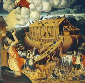 Noah's Ark, Italianate mural painting, mid 16th century studiolo