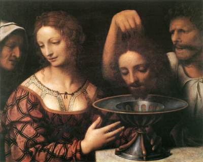 John the Baptist beheaded on request of Salome