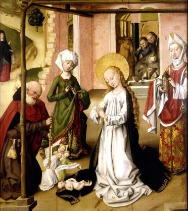 Master of the St. Bartholomew Altarpiece - Adoration of the Child