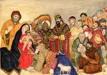 GL46980 Nativity Scene by Lawson, Gillian (Contemporary Artist); Private Collection; English, in copyright