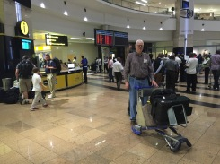 Nordling arriving at OR Tambo