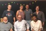 Happy bunch enjoying Angelika's hospitality in Murrayfield 2017