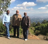 With Mulato and Tefera in Addis Abeba 2017