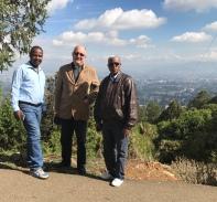 With Mulato and Tefera in Addis Abeba 2017